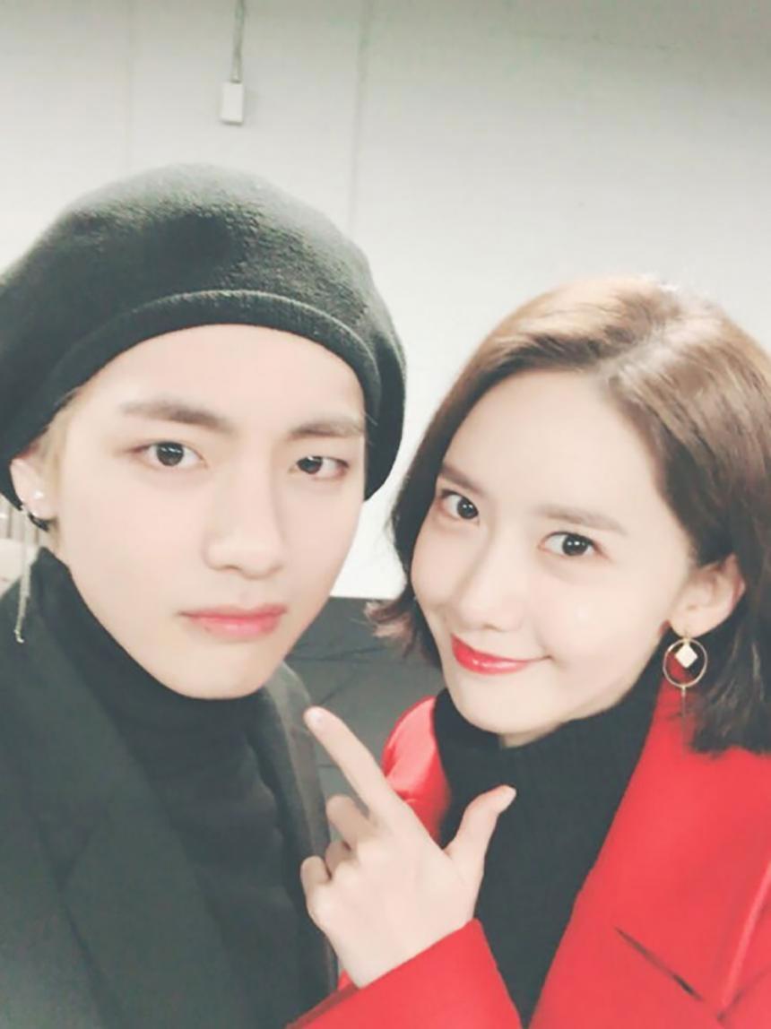 뷔-윤아 / 방탄소년단 트위터
