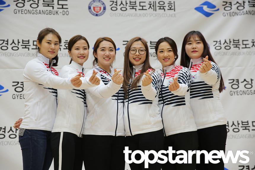 여자 컬링 대표팀/ 뉴시스 제공