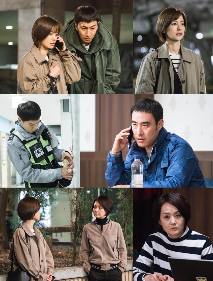 드라마'라이브' 정유미-이광수-배성우-배종옥, '불붙는 수사' 연쇄 성폭행범 잡을까 / tvN