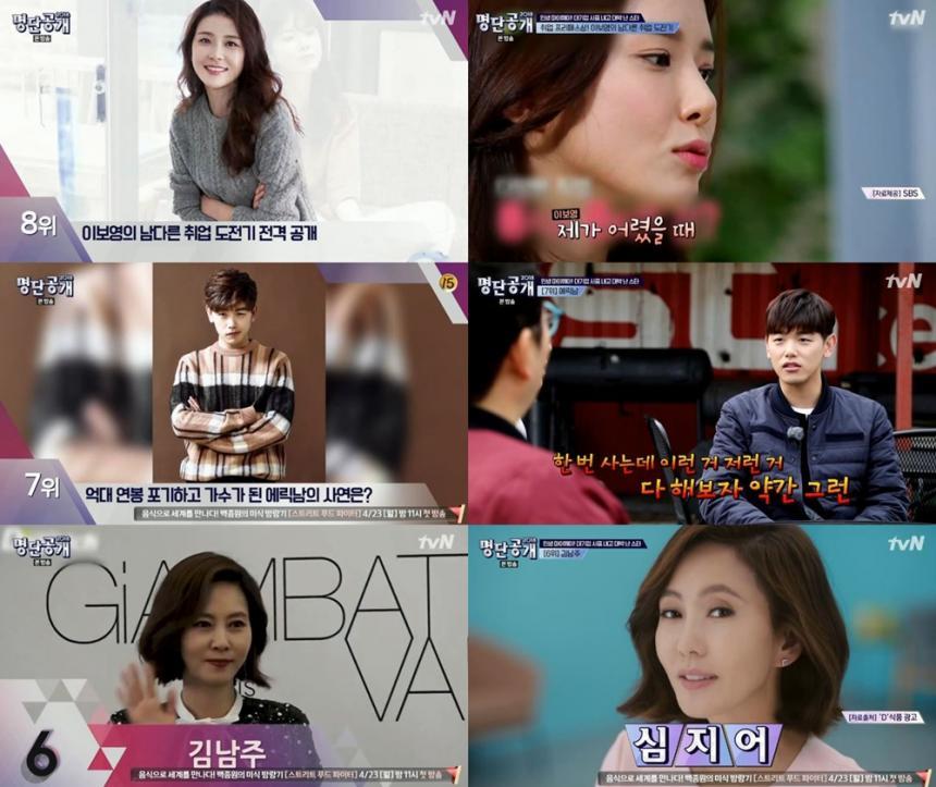 tvN '명단공개'방송캡처