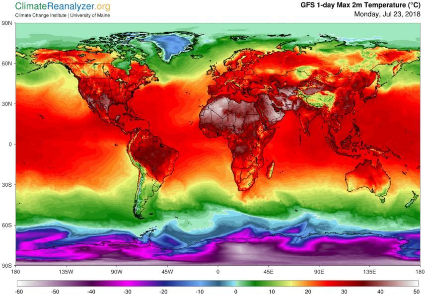 불타는 지구 [미국 메인대학 기후변화연구소 제공]