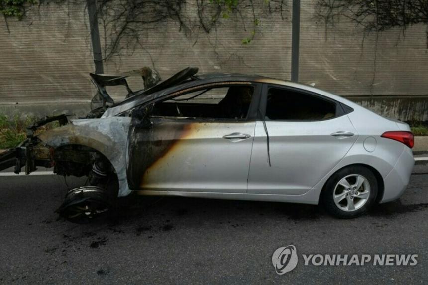 아반떼 화재 / 연합뉴스
