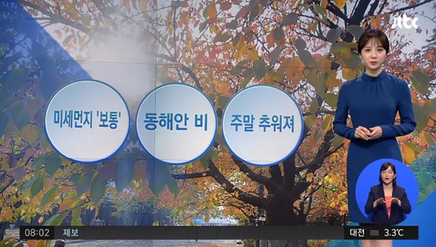 미세먼지 보통 / JTBC 뉴스