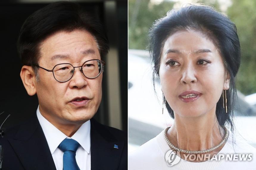 이재명 경기도지사-김부선 / 연합뉴스