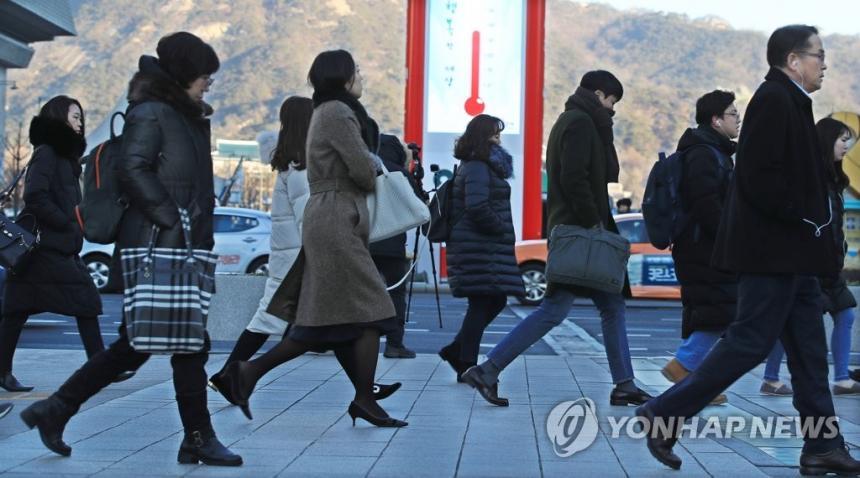 새해 첫 출근길 모습 한파주의보 / 연합뉴스