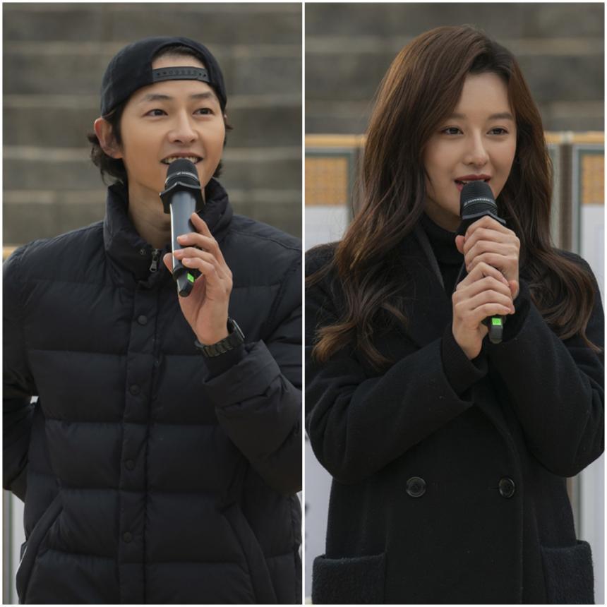 송중기-김지원 / '아스달 연대기' 고사현장 tvN제공