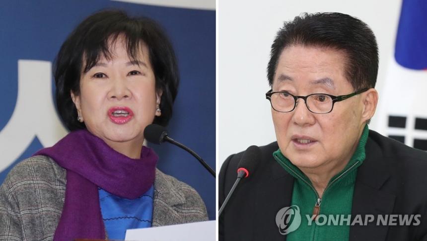 손혜원-박지원 / 연합뉴스