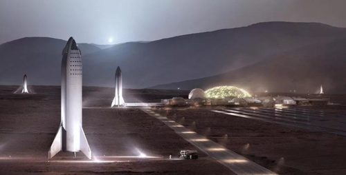 스페이스X의 화성여행 개념도 / [스페이스X]