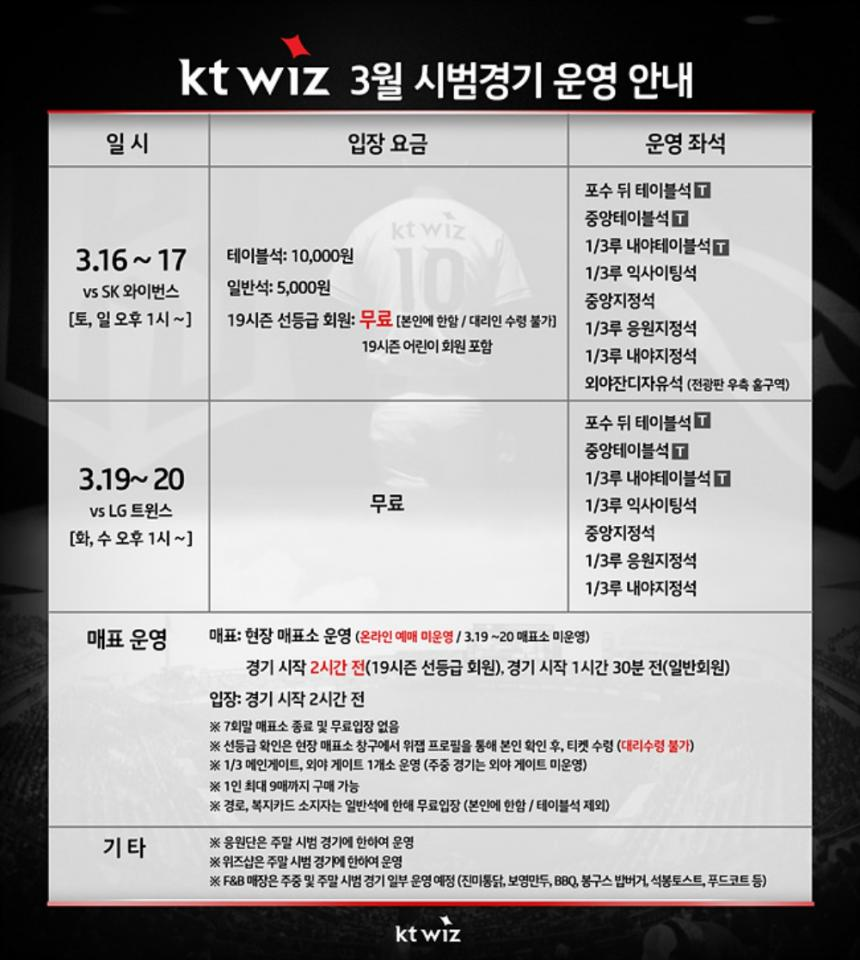KT wiz 공식 홈페이지