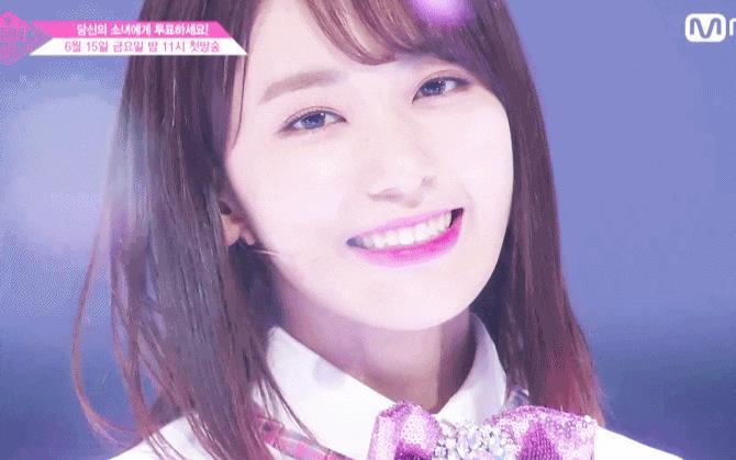 미야와키 사쿠라/ Mnet '프로듀스48' 방송 캡처