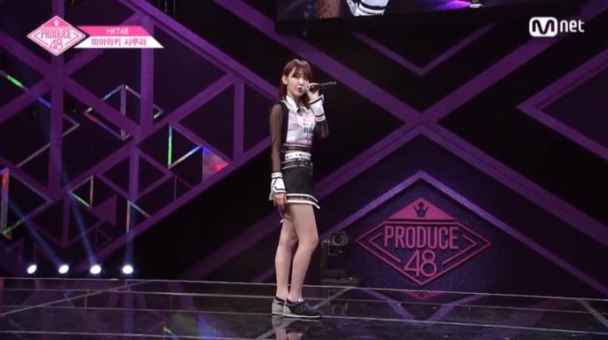 미야와키 사쿠라 / Mnet 방송 캡처
