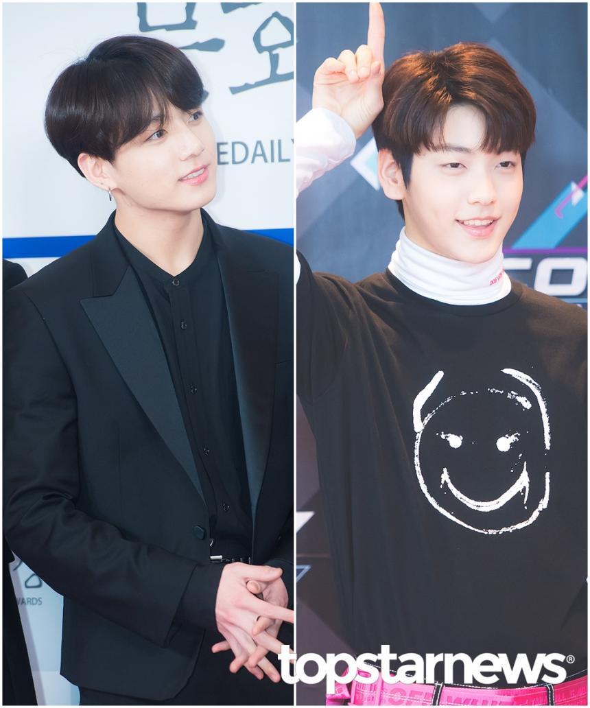 방탄소년단(BTS) 정국-투모로우바이투게더(TXT) 수빈 / 톱스타뉴스 HD포토뱅크