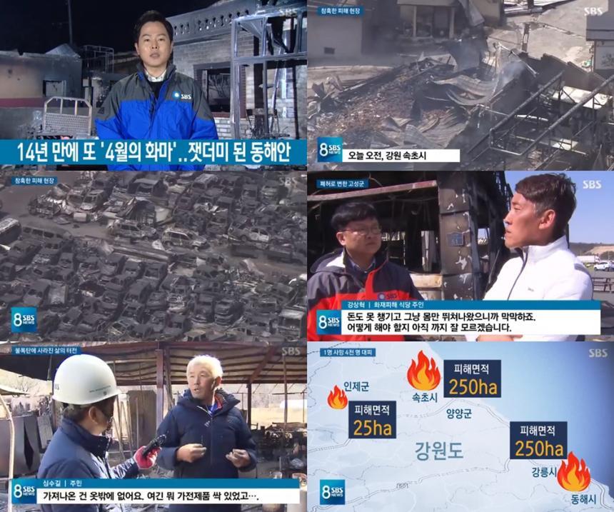 SBS '8시 뉴스'방송캡처