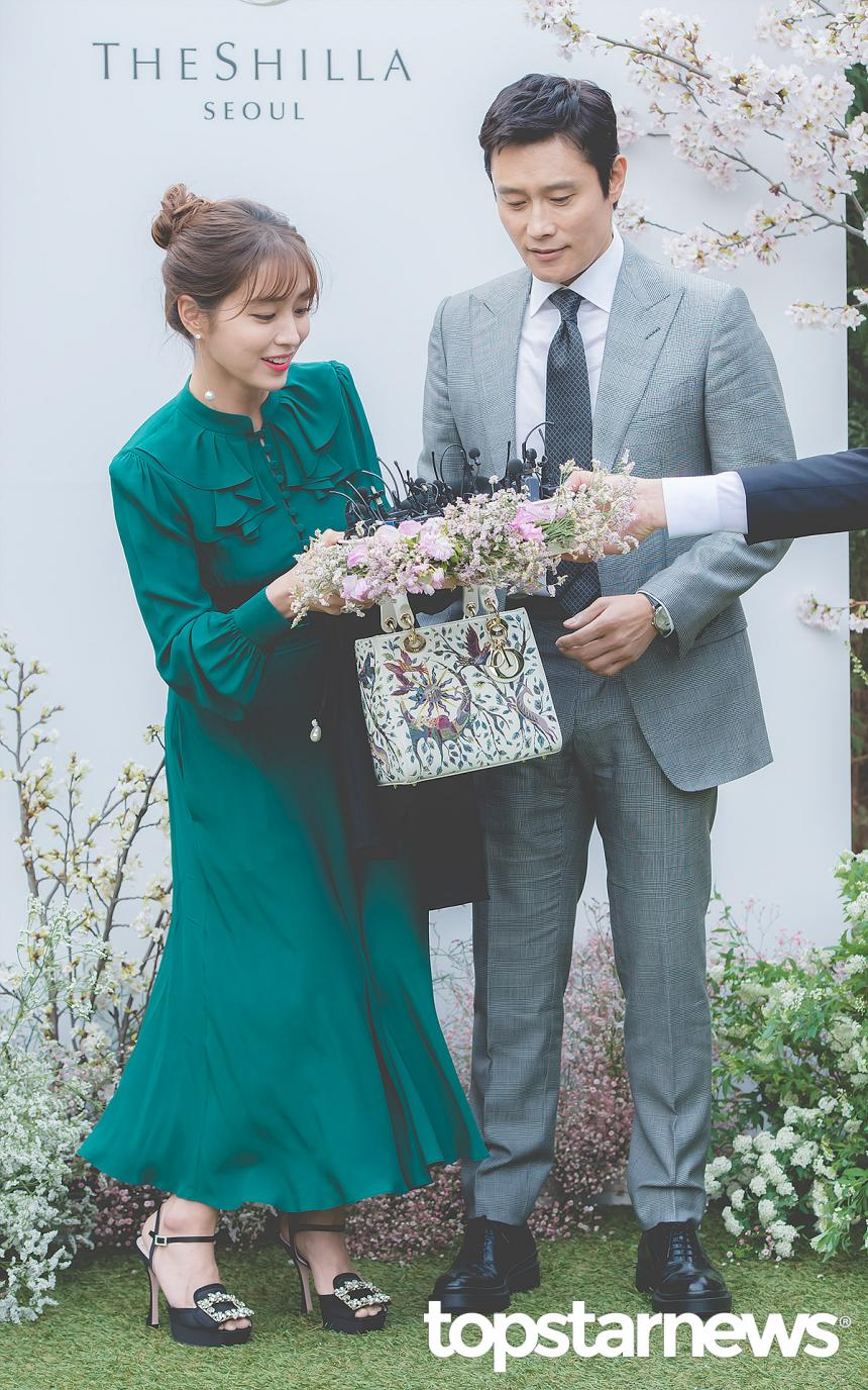 이민정-이병헌 / 서울, 최규석 기자