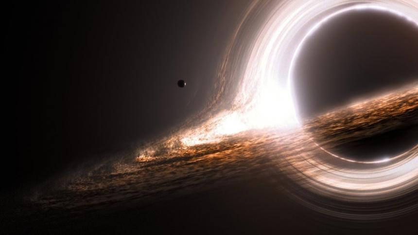 영화 인터스텔라에서 블랙홀을 묘사한 장면