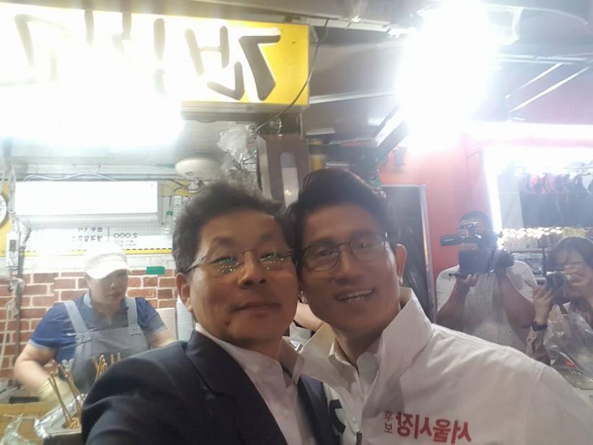 김문수 전 경기지사와 함께 있는 차명진 전 의원 / 페이스북