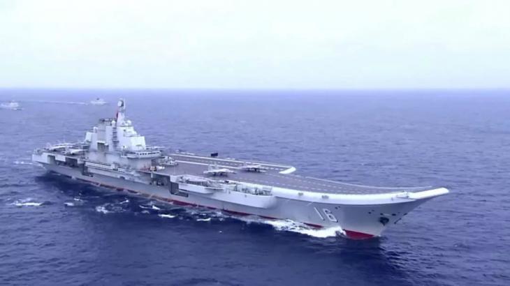 시험운항중인 중국 최초의 자국산 항공모함 001A 함 /홍콩 사우스차이나모닝포스트 사진 캡처 - 연합뉴스