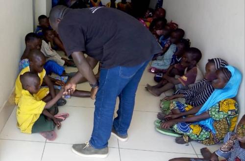 인터폴이 서아프리카에서 구출한 어린이들 [인터폴 홈페이지 캡처]