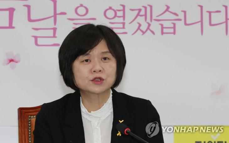 정의당 이정미 대표 / 연합뉴스