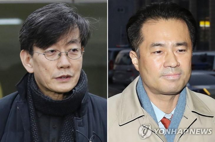 손석희·김웅손석희 JTBC 대표이사(왼쪽)와 프리랜서 기자 김웅 [연합뉴스DB]