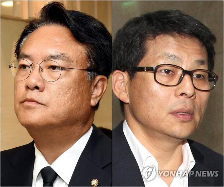 '세월호 막말' 정진석·차명진 [연합뉴스 자료사진]