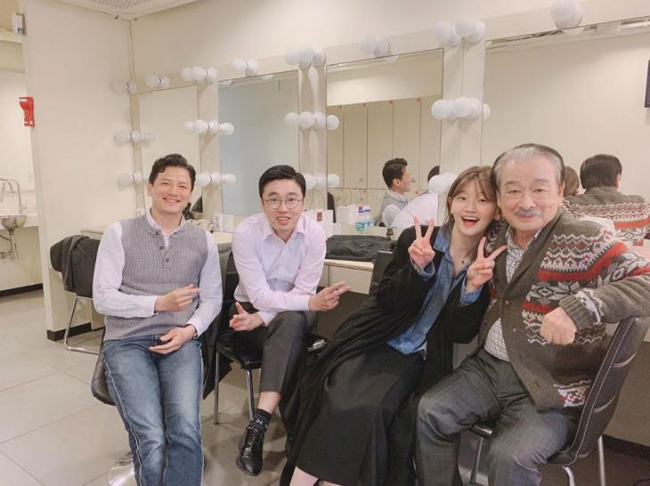 김대령-조달환-박소담-이순재 / 박소담 인스타그램