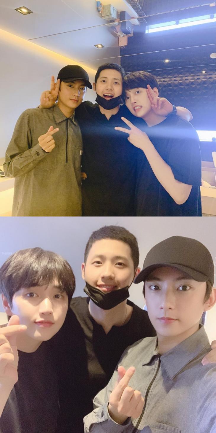 B1A4 공찬-신우-산들 / 신우 인스타그램