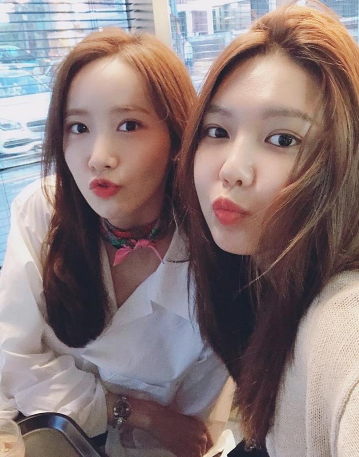 소녀시대 윤아-수영 / 수영 인스타그램
