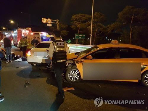 한지성 교통사고 당시 상황 / 연합뉴스