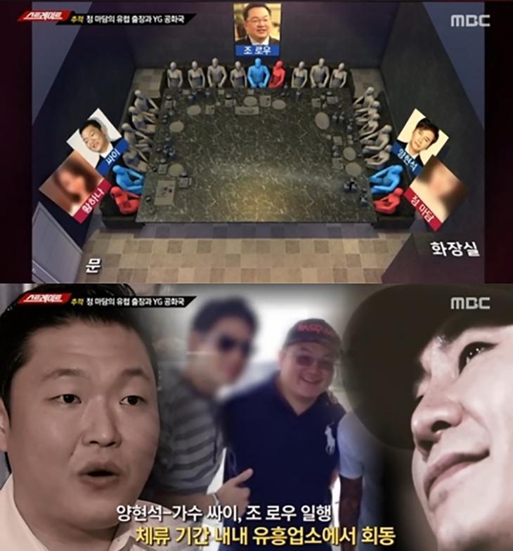 황하나-싸이-조로우-정마담-양현석 /