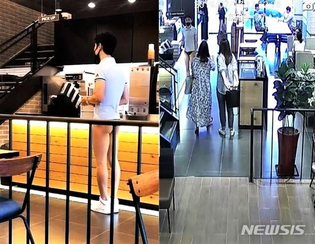 충북 충주경찰서는 속옷만 입고 도심 상가 활보한 20~30대 남성을 추적 중이라고 19일 밝혔다. 사진은 CCTV.2019.07.19.(사진=SNS) / 뉴시스
