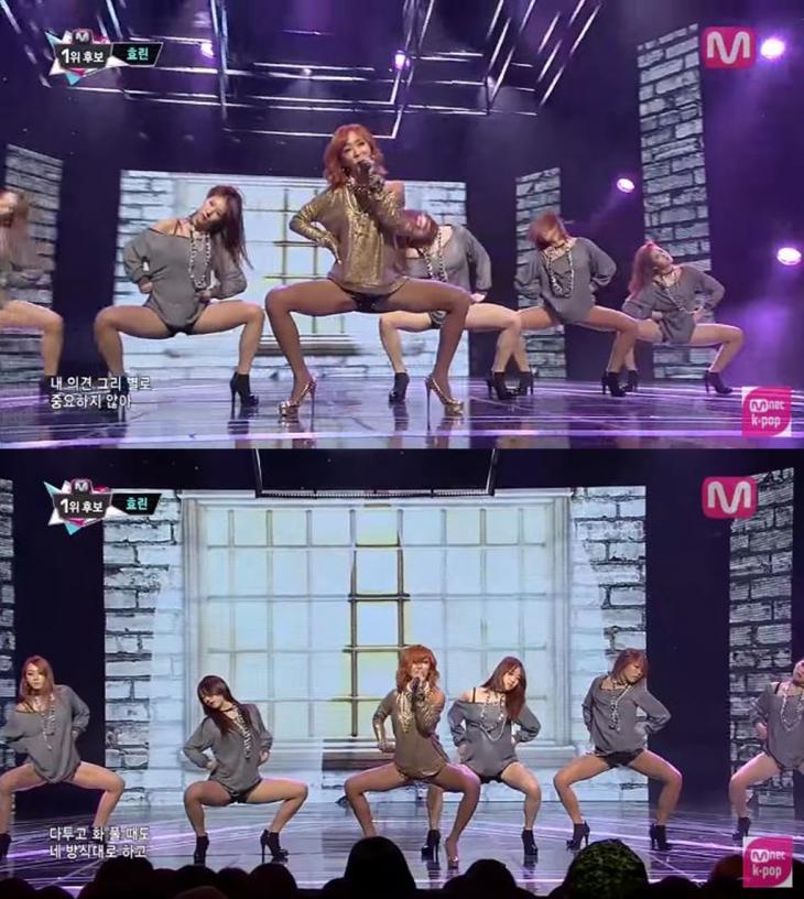 효린 꽃게춤 / 엠넷 방송 캡처
