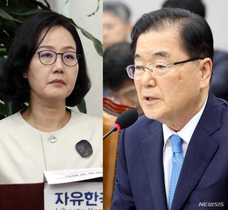 김현아-정의용 / 뉴시스