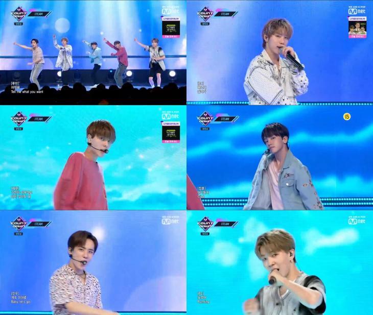 Mnet '엠카운트다운' 방송 영상 캡처