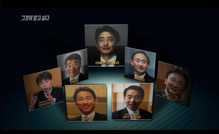 과거사를 부정하는 역사교육모임의 위원들이 아베 내각의 장관이 됐다 / SBS '그것이 알고싶다'