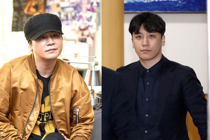YG엔터 양현석-'빅뱅' 승리 / 연합뉴스