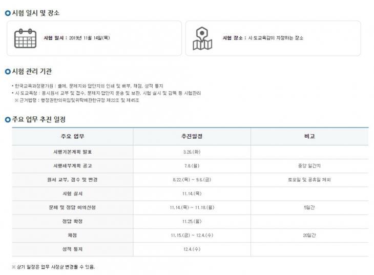 한국교육과정평가원 홈페이지