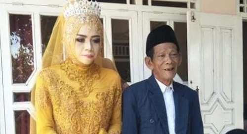 인도네시아 83세 남성, 27세 여성과 결혼 [일간 콤파스]