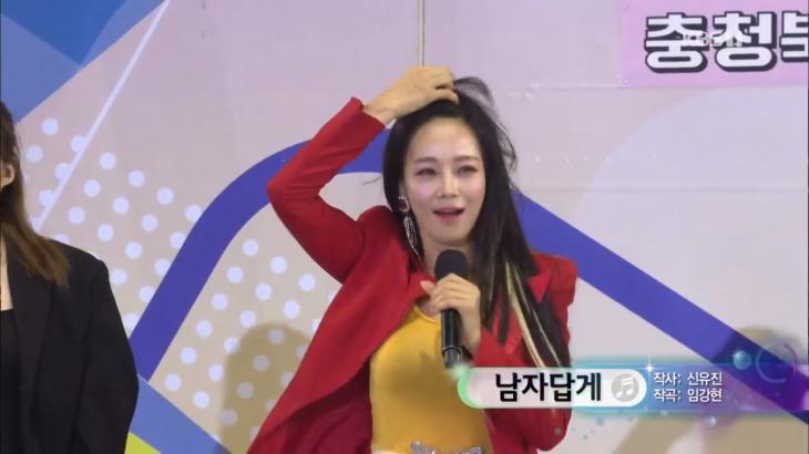 트로트 가수 지원이, '전국노래자랑'서 나이 잊은 섹시한 카리스마 뽐내… 뇌쇄적인 미소는 덤