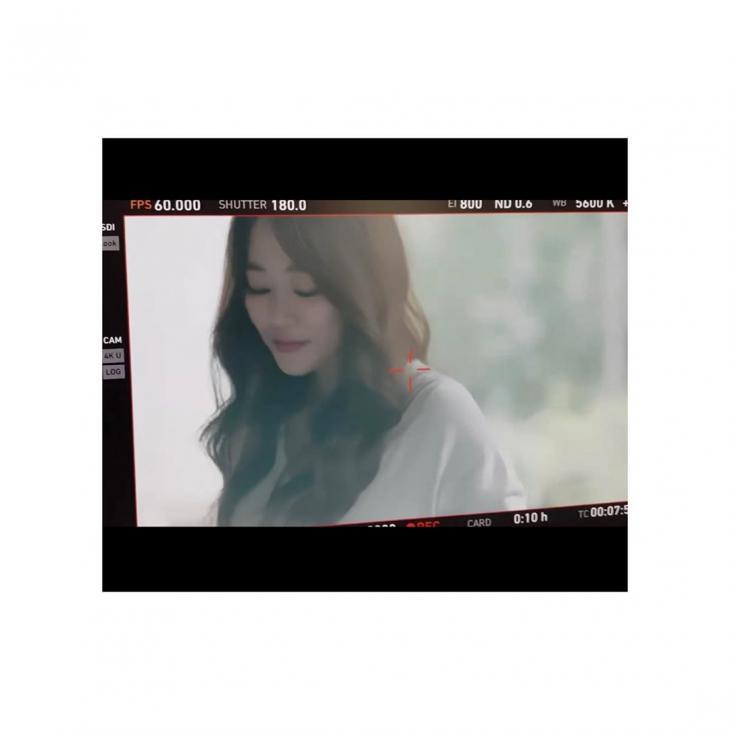 김효진 둘째 출산 이후 촬영장 / 김효진 인스타그램