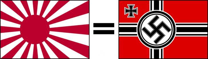 일본 욱일기-독일 나치기(하켄크로이츠) / 톱스타뉴스 포토DB