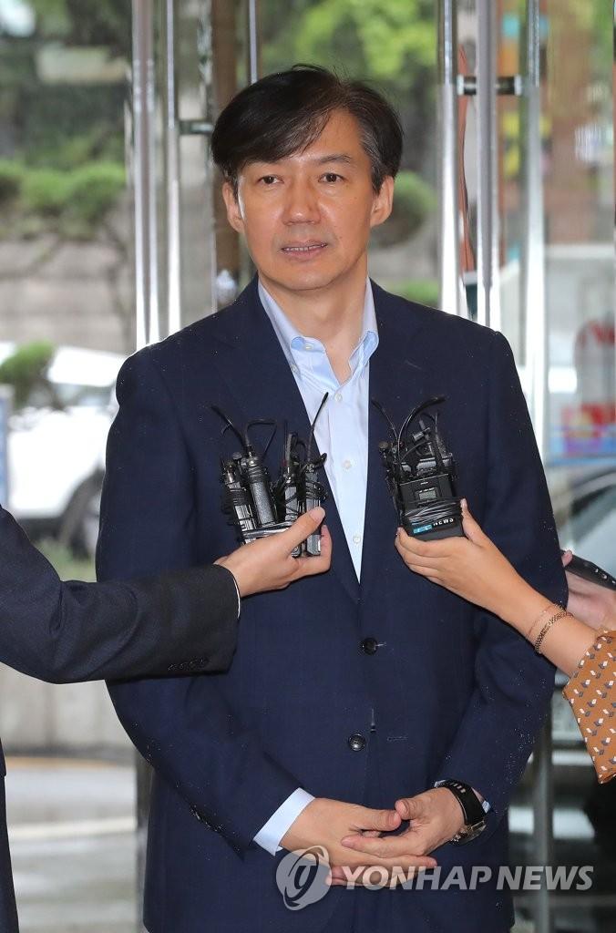조국 법무부 장관 후보자 / 연합뉴스