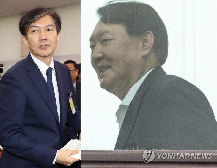 조국 법무부 장관 후보자-윤석열 검찰총장 / 연합뉴스