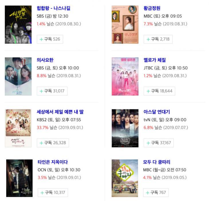 9월 6일-7일-8일 금토드라마-토일드라마