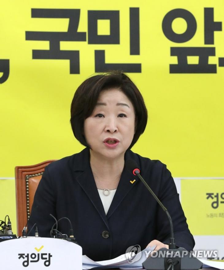 정의당 심상정 대표 / 연합뉴스