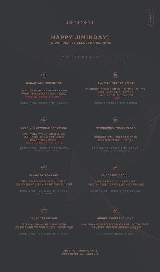 방탄소년단(BTS) 지민 생일 서포트
