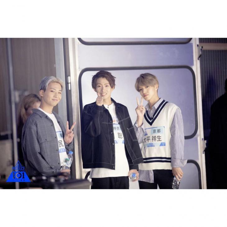 카와시리 렌(맨 왼쪽) / 프로듀스 101 재팬 공식 인스타그램