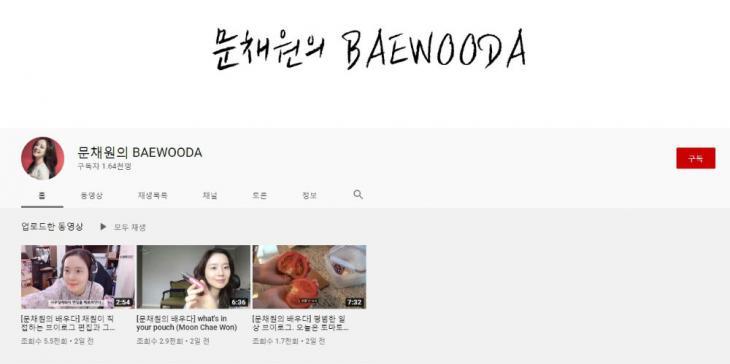문채원 유튜브 채널