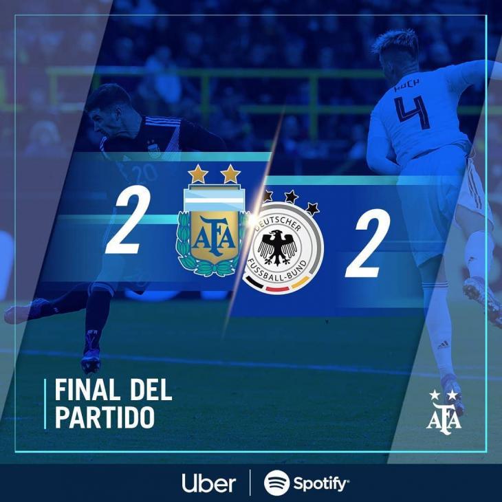 아르헨티나 축구협회 인스타그램