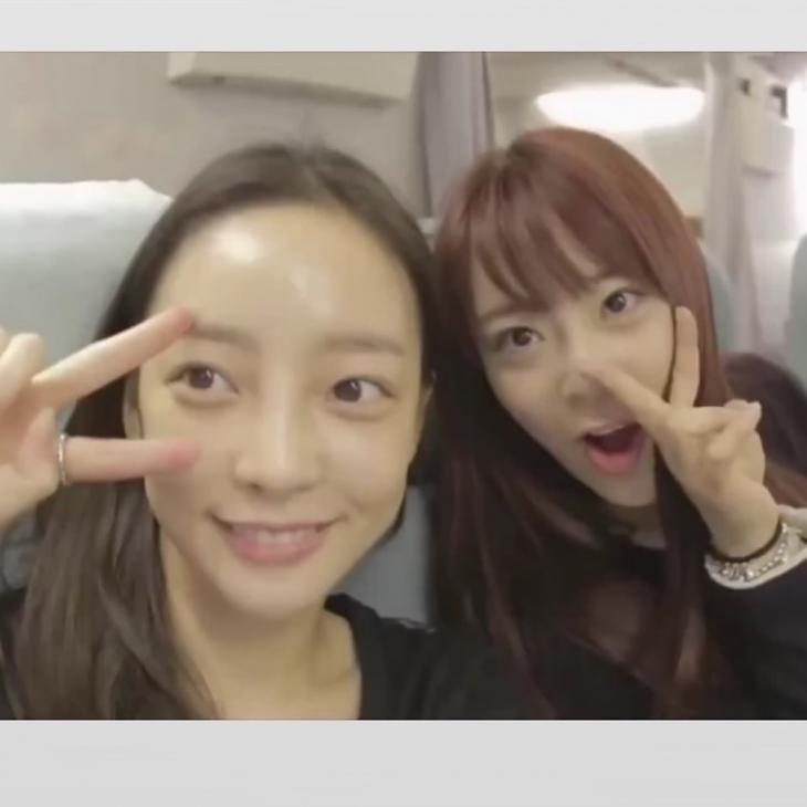 故 구하라-허영지 / 허영지 인스타그램